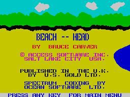 Beach Head screenshot