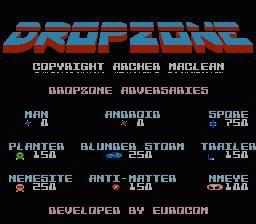 Dropzone (1984) screenshot