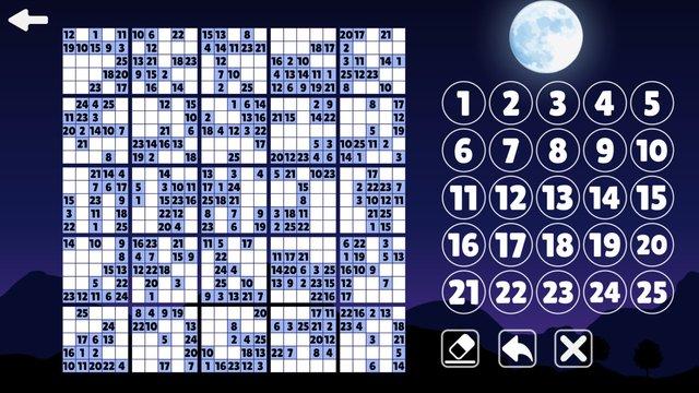 Sudoku 9X16X25 screenshot