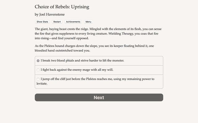 Choice of Rebels: Uprising screenshot