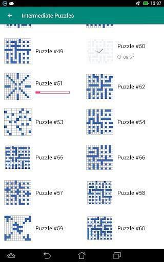 Fill-In Crosswords screenshot