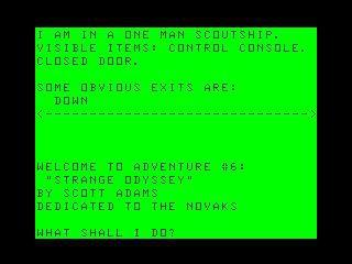 Strange Odyssey screenshot