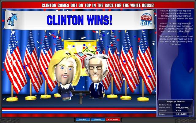 The Political Machine 2016 screenshot