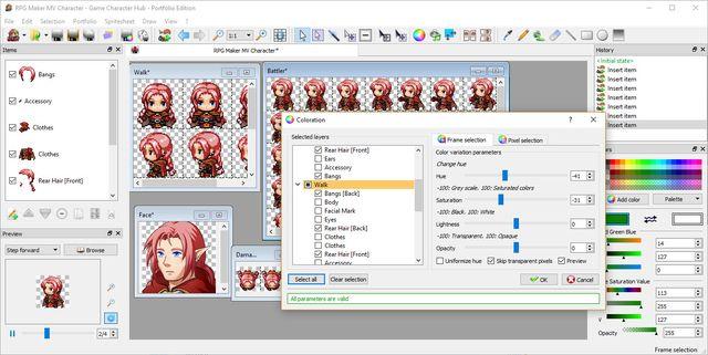Game Character Hub: Portfolio Edition screenshot