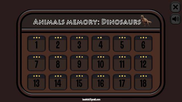Animals Memory: Dinosaurs screenshot