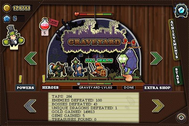 Tap Heroes screenshot