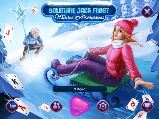Solitaire Jack Frost Winter Adventures screenshot