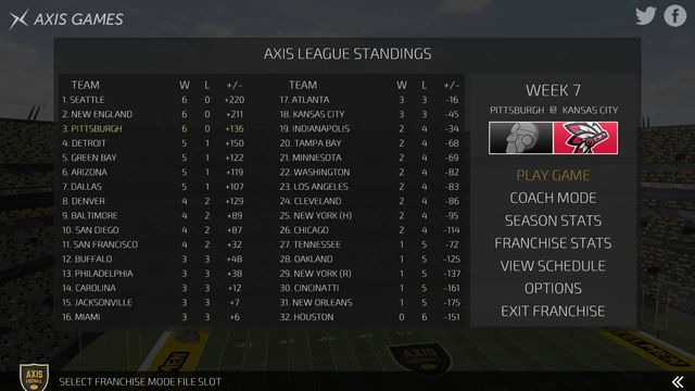 Axis Football 2016 screenshot