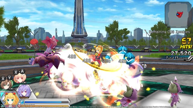 MegaTagmension Blanc + Neptune VS Zombies (Neptunia) screenshot