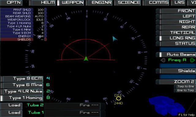 Artemis Spaceship Bridge Simulator screenshot