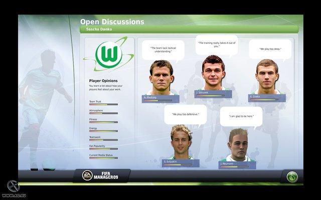 FIFA Manager 09 screenshot