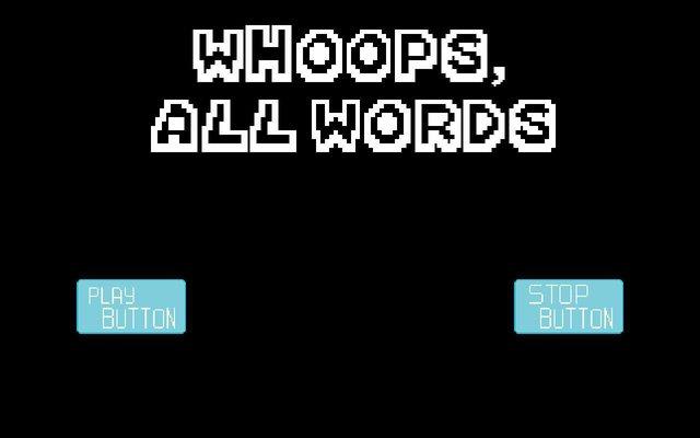 Whoops, All Words! screenshot