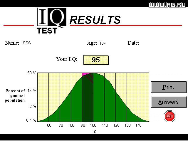 Multimedia IQ Test screenshot