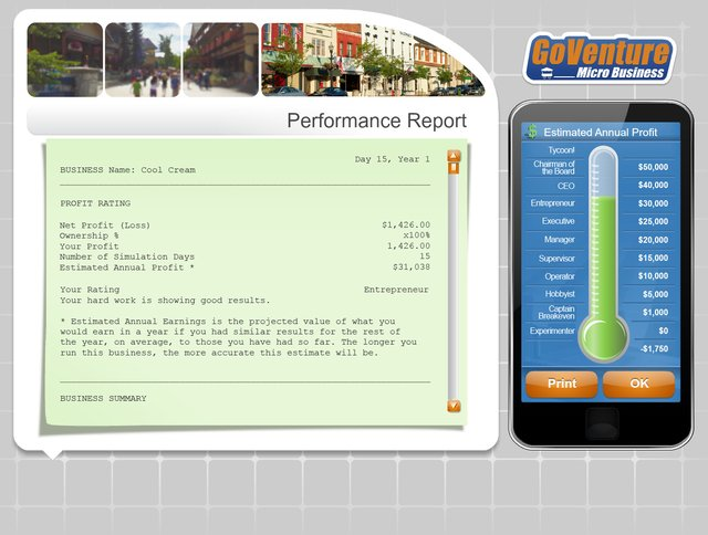 GoVenture MICRO BUSINESS screenshot