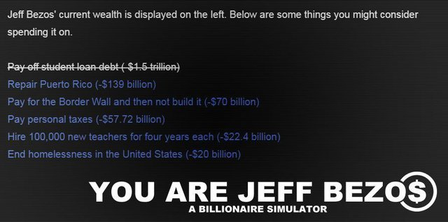 You Are Jeff Bezos screenshot