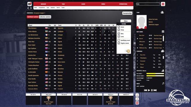 Basketball Pro Management 2015 screenshot