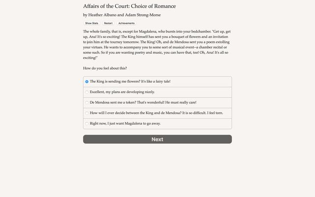 Affairs of the Court: Choice of Romance screenshot