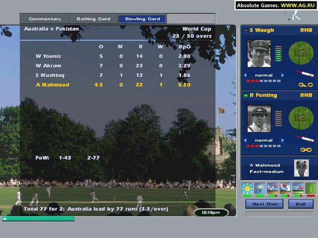 International Cricket Captain 2002 screenshot