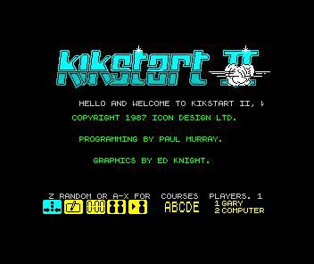 Kikstart 2 screenshot