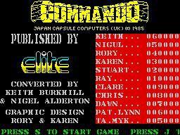 Commando screenshot