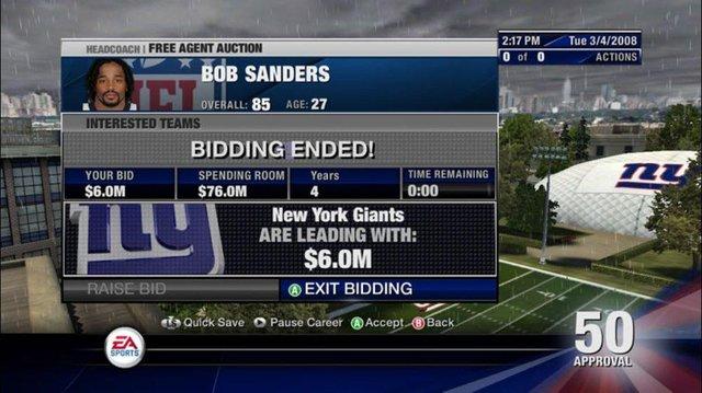 NFL Head Coach 09 screenshot