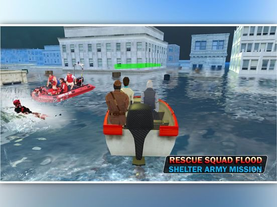 Mobile Rescue Squad: Flood Shelter Army Mission screenshot