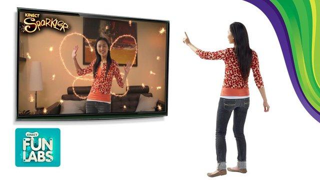 Kinect Sparkler screenshot