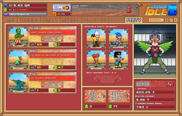 Shonen Idle Z screenshot