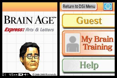 Brain Age Express: Arts & Letters screenshot