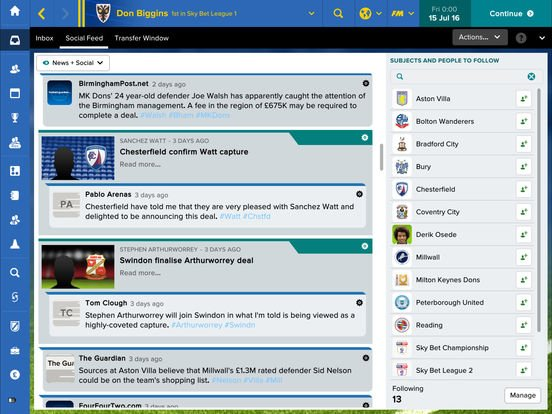Football Manager Touch 2017 screenshot