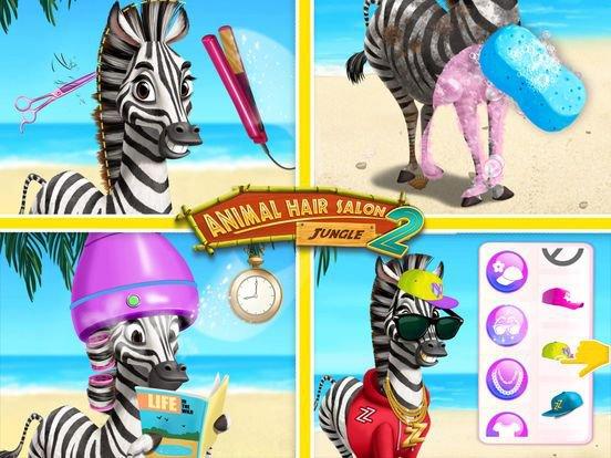 Jungle Animal Hair Salon 2 screenshot