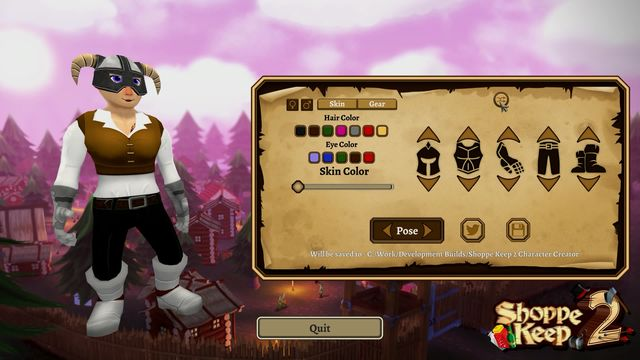 Shoppe Keep 2 Character Creator Preview screenshot