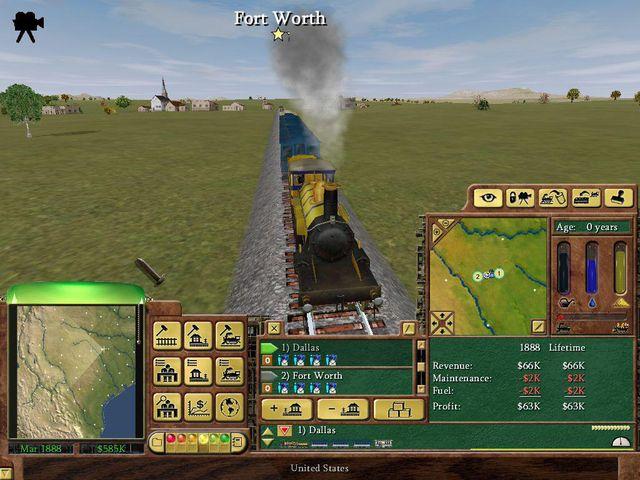 Railroad Tycoon 3 screenshot