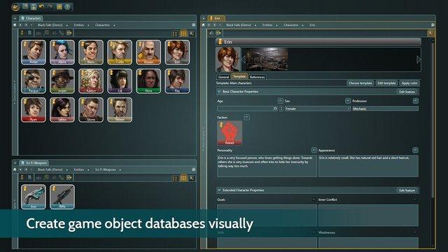 articy:draft 3 - Flex License screenshot