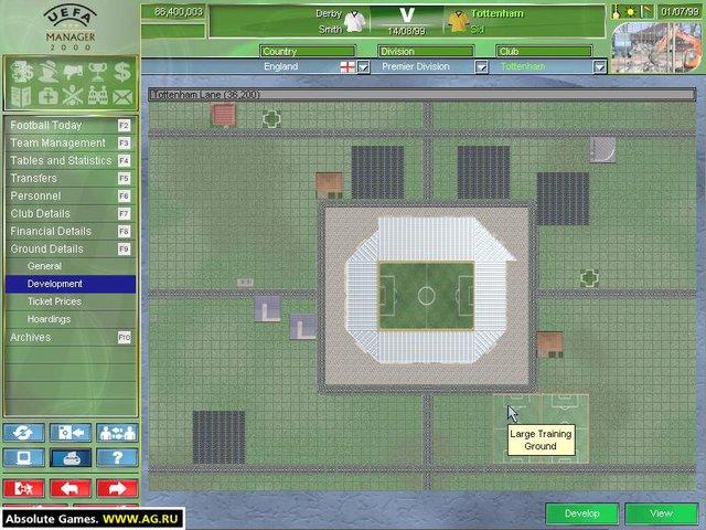 UEFA Manager 2000 screenshot