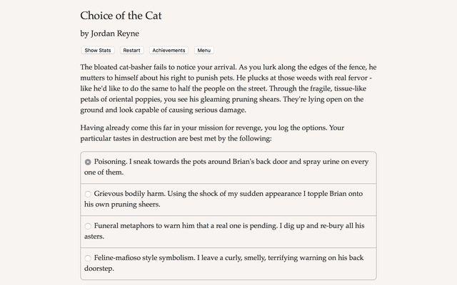 Choice of the Cat screenshot