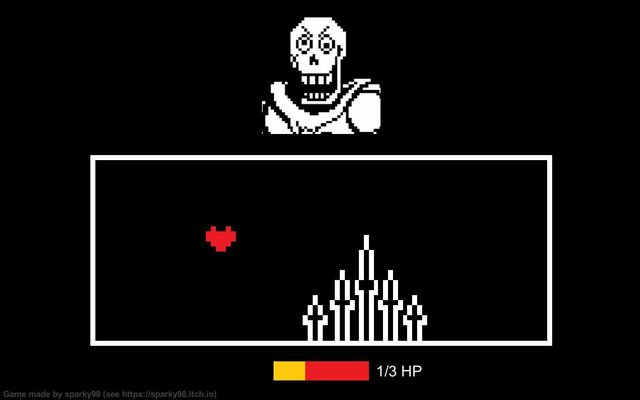 My very first little game (Inspired by Undertale) screenshot