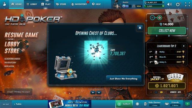 HD Poker screenshot