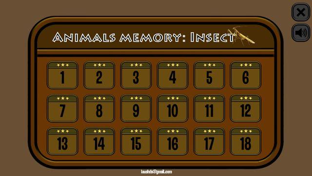 Animals Memory: Insect screenshot