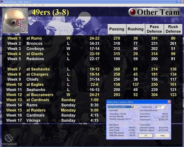 Football Mogul 2006 screenshot