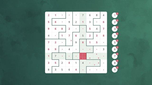 Sudoku Jigsaw screenshot