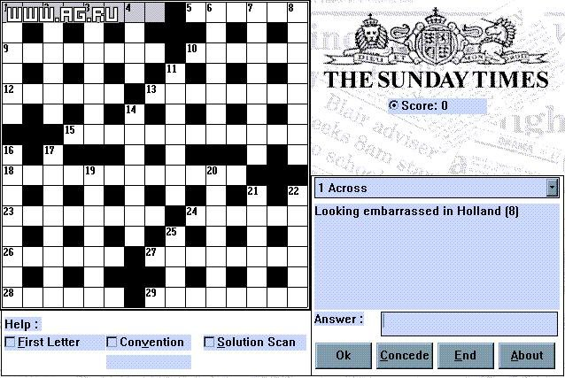The Sunday Times Crossword Compendium screenshot