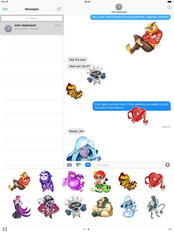 Monster Legends Stickers screenshot