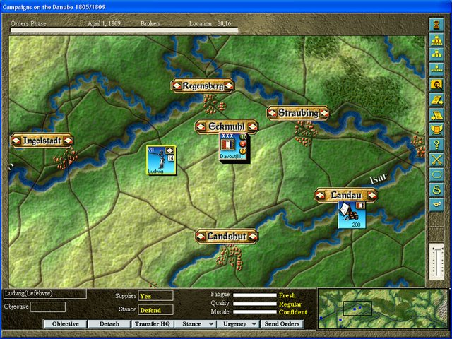 The Campaigns on the Danube 1805/1809 screenshot