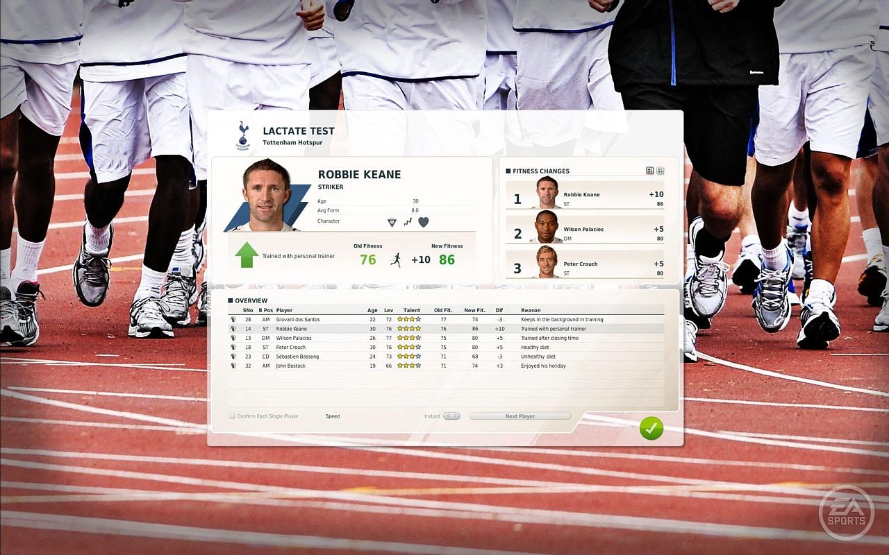 Скриншот из игры FIFA Manager 12