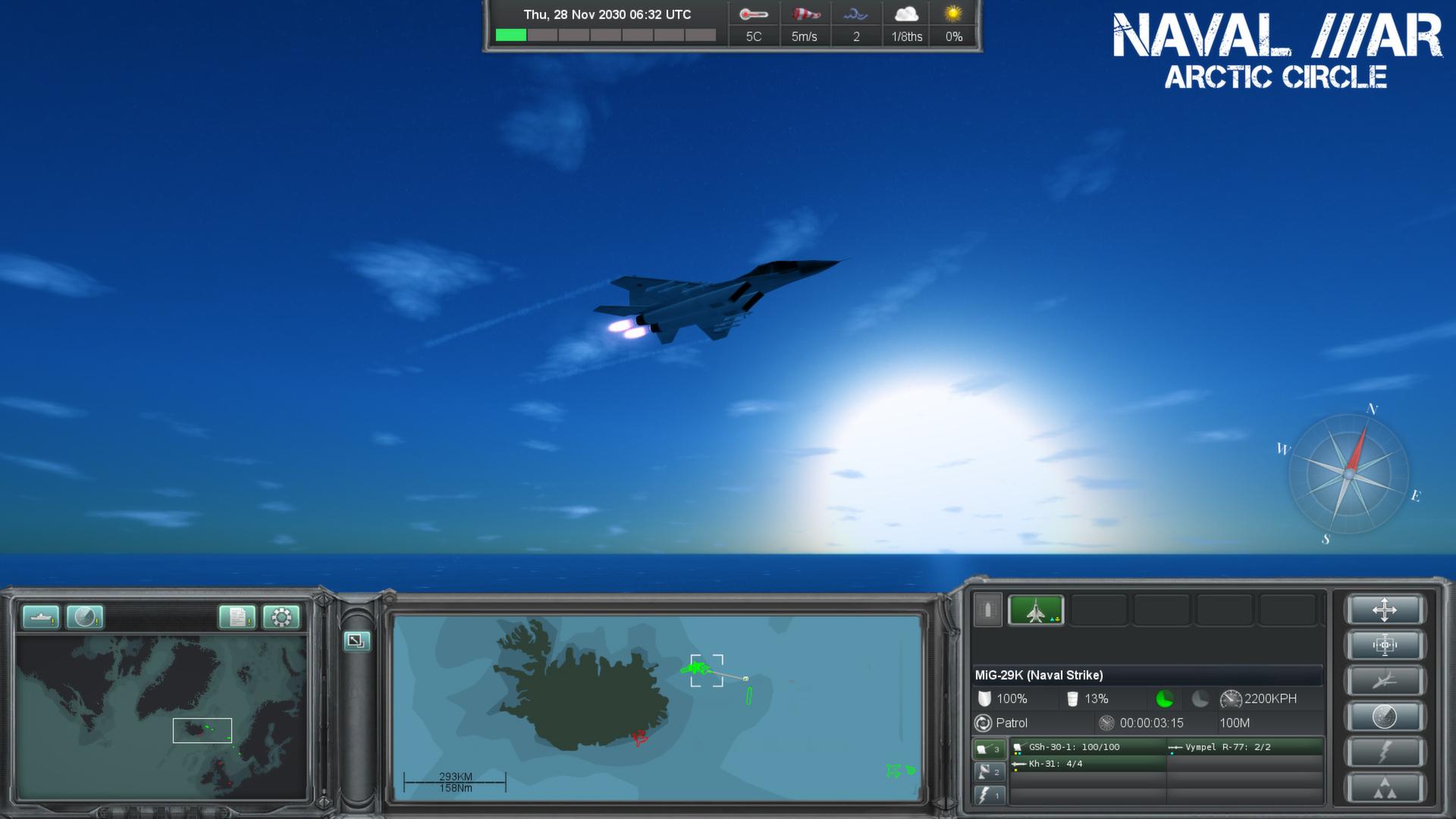 Скриншот из игры Naval War: Arctic Circle