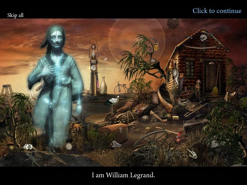 Скриншот из игры Мистические истории. Тайны прошлого. Эдгар Аллан По