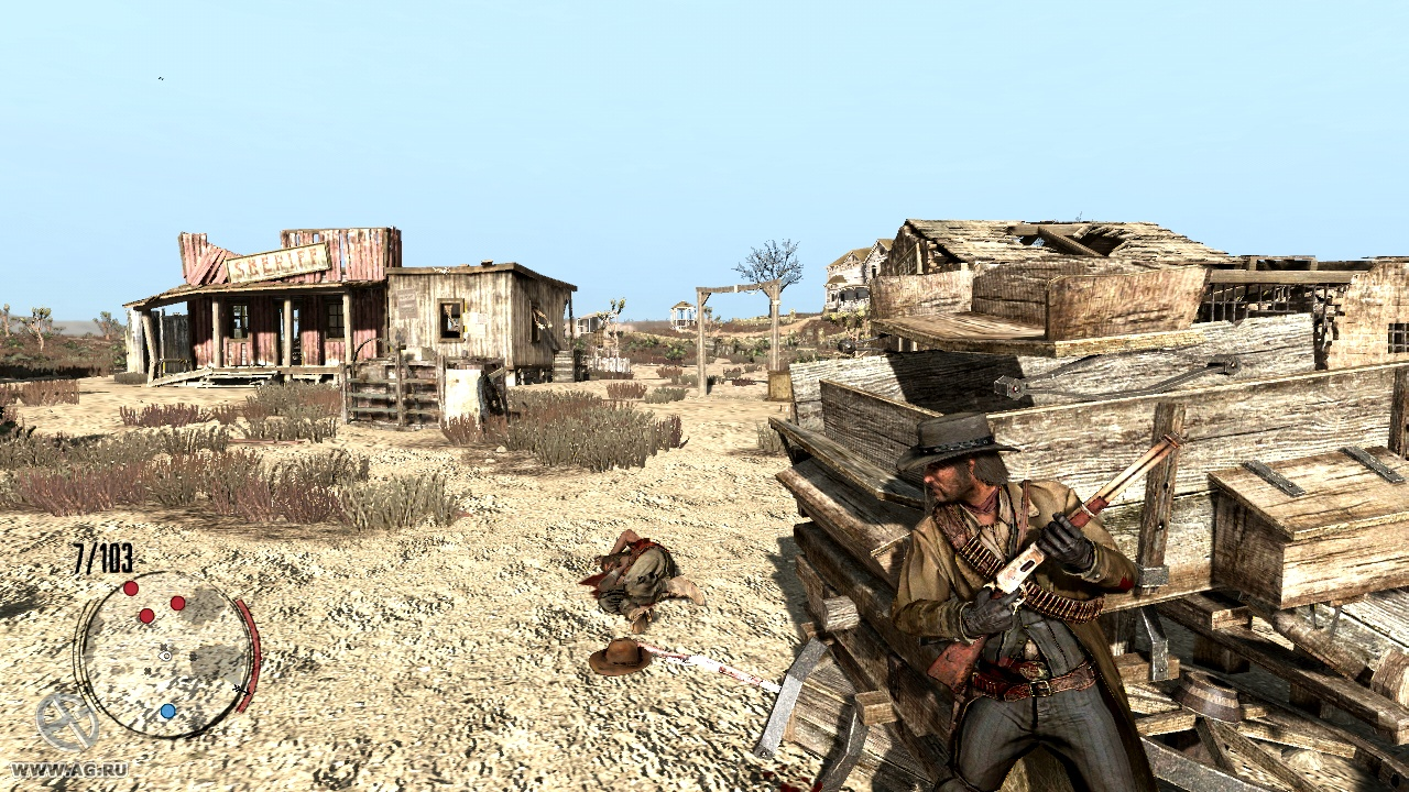 Gameplay Red Dead Redemption is a Westernthemed actionadventure game played from a thirdperson perspective The player controls John Marston and completes